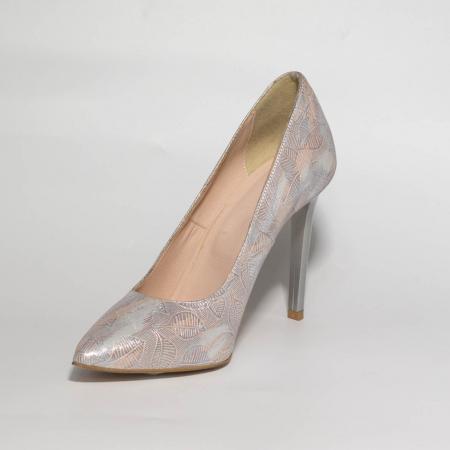 Pantofi dama din piele naturala cu imprimeu MSPD190-22-19 [2]
