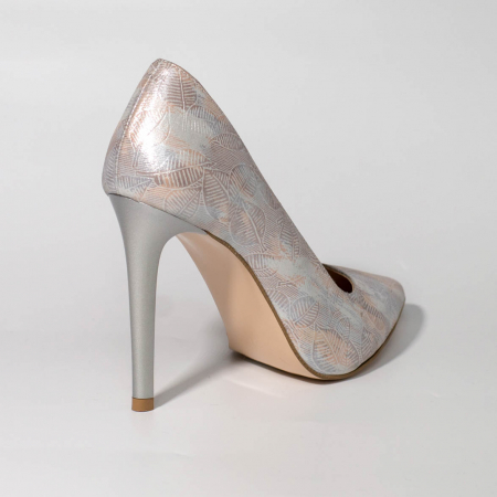 Pantofi dama din piele naturala cu imprimeu MSPD190-22-19 [1]