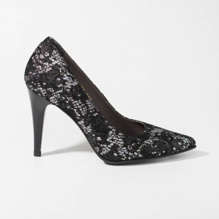 Pantofi dama din piele naturala cu imprimeu MSPD190-24-19 [0]