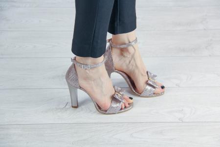 Sandale dama din piele naturala cu imprimeu MSSD02217-1-20 [0]