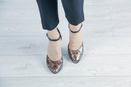 Pantofi decupati din piele naturala cu imprimeu MSSD1219-20 [2]