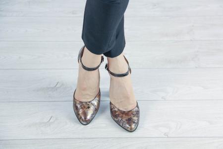 Pantofi decupati din piele naturala cu imprimeu MSSD1219-20 [1]