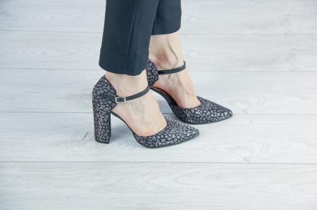 Pantofi decupati din piele  naturala cu imprimeu MSSD2720-20 [0]