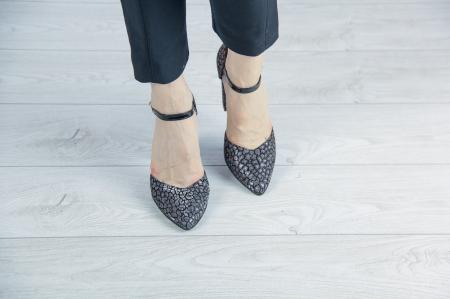 Pantofi decupati din piele  naturala cu imprimeu MSSD2720-20 [2]