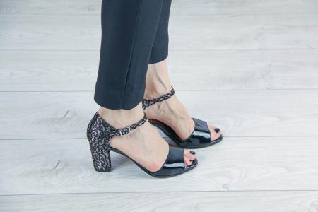 Sandale dama din piele naturala lacuita MSSD2119-20 [0]