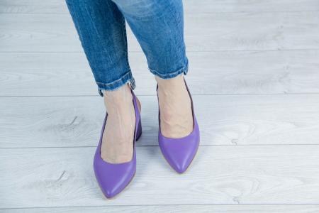 Sandale din piele naturala mov MSSD2020-1-20 [2]