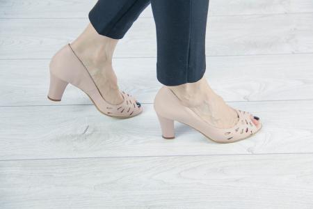Pantofi decupati din piele naturala perforata MSSD1711-1-20 [0]