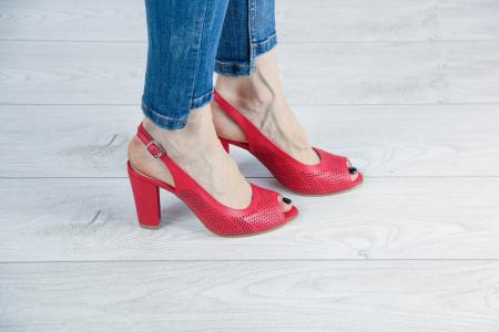 Sandale din piele naturala albastra laserata MSSD0619L2-2-20 [0]