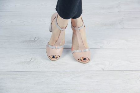 Sandale din piele naturala bej MSSD3419-20 [1]
