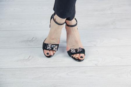 Sandale din piele naturala camoscio negru MSSD4520-20 [1]