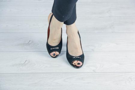 Sandale din piele naturala camoscio negru MSSD6920-20 [1]