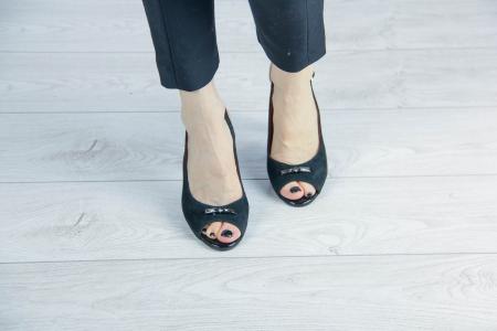 Sandale din piele naturala camoscio negru MSSD6920-20 [2]