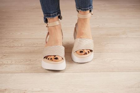 Sandale din piele naturala croco nude MSSD2220-1-21 [3]