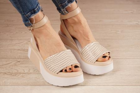 Sandale din piele naturala croco nude MSSD2220-1-21 [1]