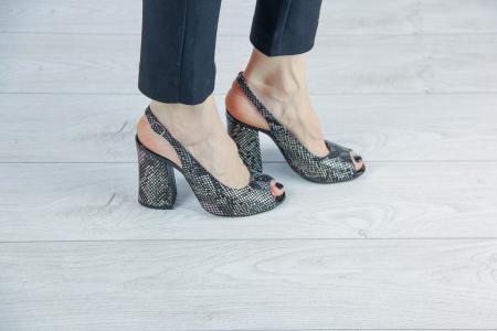 Sandale din piele naturala cu imprimeu de sarpe MSSD0519-2-20 [0]