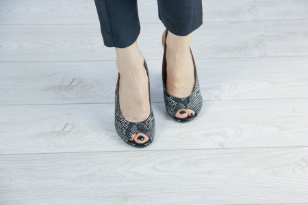 Sandale din piele naturala cu imprimeu de sarpe MSSD0519-2-20 [2]