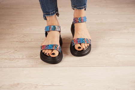 Sandale din piele naturala cu imprimeu MSSD0521-21 [3]