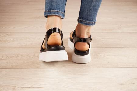 Sandale din piele naturala cu imprimeu MSSD0621-21 [4]