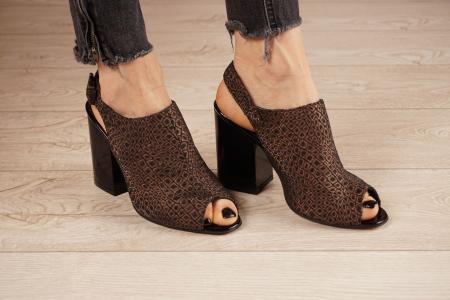 Sandale din piele naturala cu imprimeu MSSD1020-20 [0]