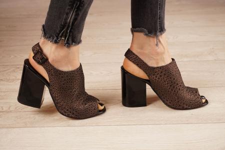 Sandale din piele naturala cu imprimeu MSSD1020-20 [2]