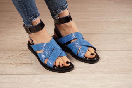 Sandale din piele naturala cu imprimeu  MSSD1221-21 [0]