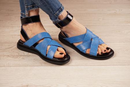 Sandale din piele naturala cu imprimeu  MSSD1221-21 [1]