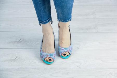 Sandale din piele naturala cu imprimeu MSSD3411-11-20 [2]