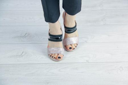 Sandale din piele naturala cu imprimeu MSSD4019-20 [2]