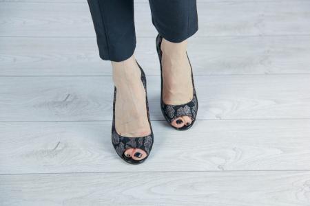 Pantofi decupati din piele naturala cu imprimeu MSSD4220-4-20 [2]