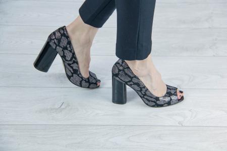Pantofi decupati din piele naturala cu imprimeu MSSD4220-4-20 [0]