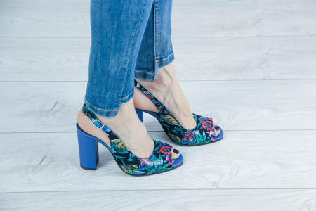Sandale din piele naturala cu imprimeu MSSD52617-3-20 [0]