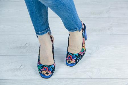Sandale din piele naturala cu imprimeu MSSD52617-3-20 [2]