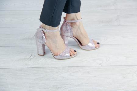 Sandale din piele naturala cu imprimeu MSSD5419-20 [0]