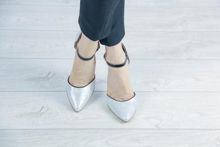 Pantofi decupati din piele naturala cu imprimeu MSSD5620-20 [0]