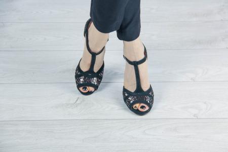Sandale din piele naturala cu imprimeu MSSD5719-20 [1]