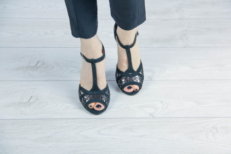 Sandale din piele naturala cu imprimeu MSSD5719-20 [2]