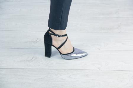 Pantofi decupati din piele naturala cu imprimeu MSSD6318-19 [0]