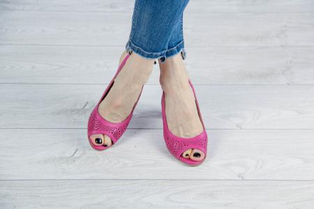 Sandale din piele naturala fuxia laserata MSSD3411L8-5-20 [1]