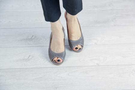 Sandale din piele naturala grej laserata MSSD3411L8-3-20 [2]