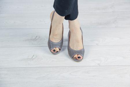 Sandale din piele naturala grej laserata MSSD3411L8-3-20 [1]