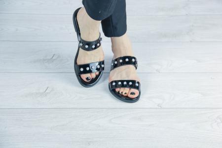 Papuci din piele naturala lacuita MSSD1820-20 [0]