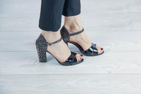 Sandale din piele naturala lacuita MSSD5219-20 [0]
