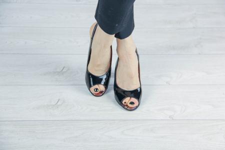Sandale din piele naturala lacuita neagra MSSD3411-1-20 [1]