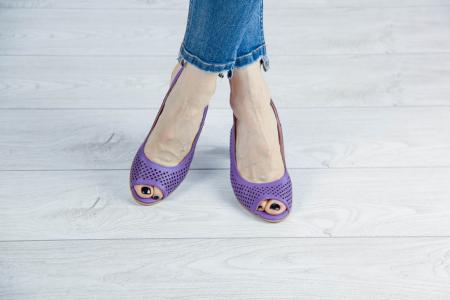 Sandale din piele naturala mov laserata MSSD4218L3-3-20 [1]