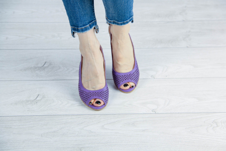 Sandale din piele naturala mov laserata MSSD4218L3-3-20 [2]