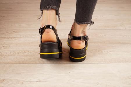 Sandale din piele naturala neagra MSSD2321-21 [4]