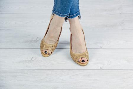 Sandale din piele naturala nude laserata MSSD3411L8-2-20 [1]
