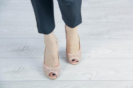 Pantofi decupati din piele naturala nude laserata MSSD4212L43-20 [2]