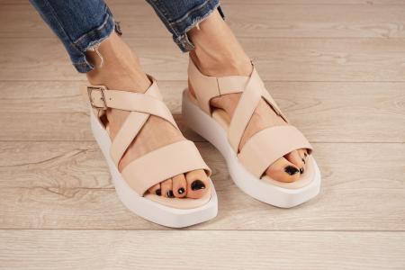 Sandale din piele naturala nude MSSD1621-21 [1]