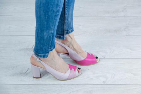 Sandale din piele naturala roz pudra MSSD3420-20 [0]
